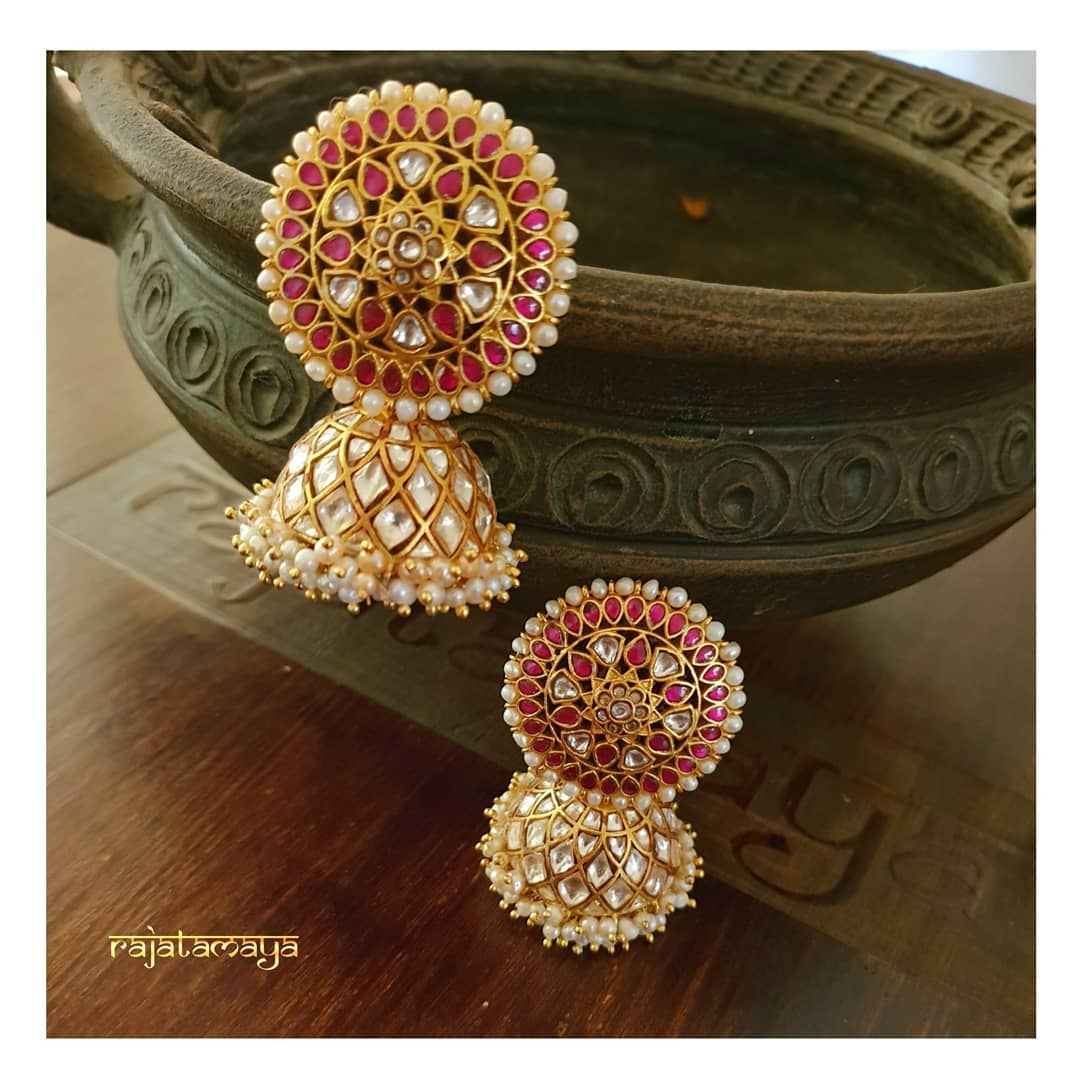 Beautiful Bridal Jhumka From Rajatamaya