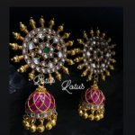 Beautiful Kavyaa kundan Jumka From Lotus Silver Jewellery
