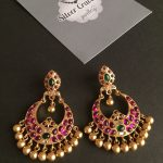 Beautiful Kemp Chandbali From Silver Cravings Jewellery