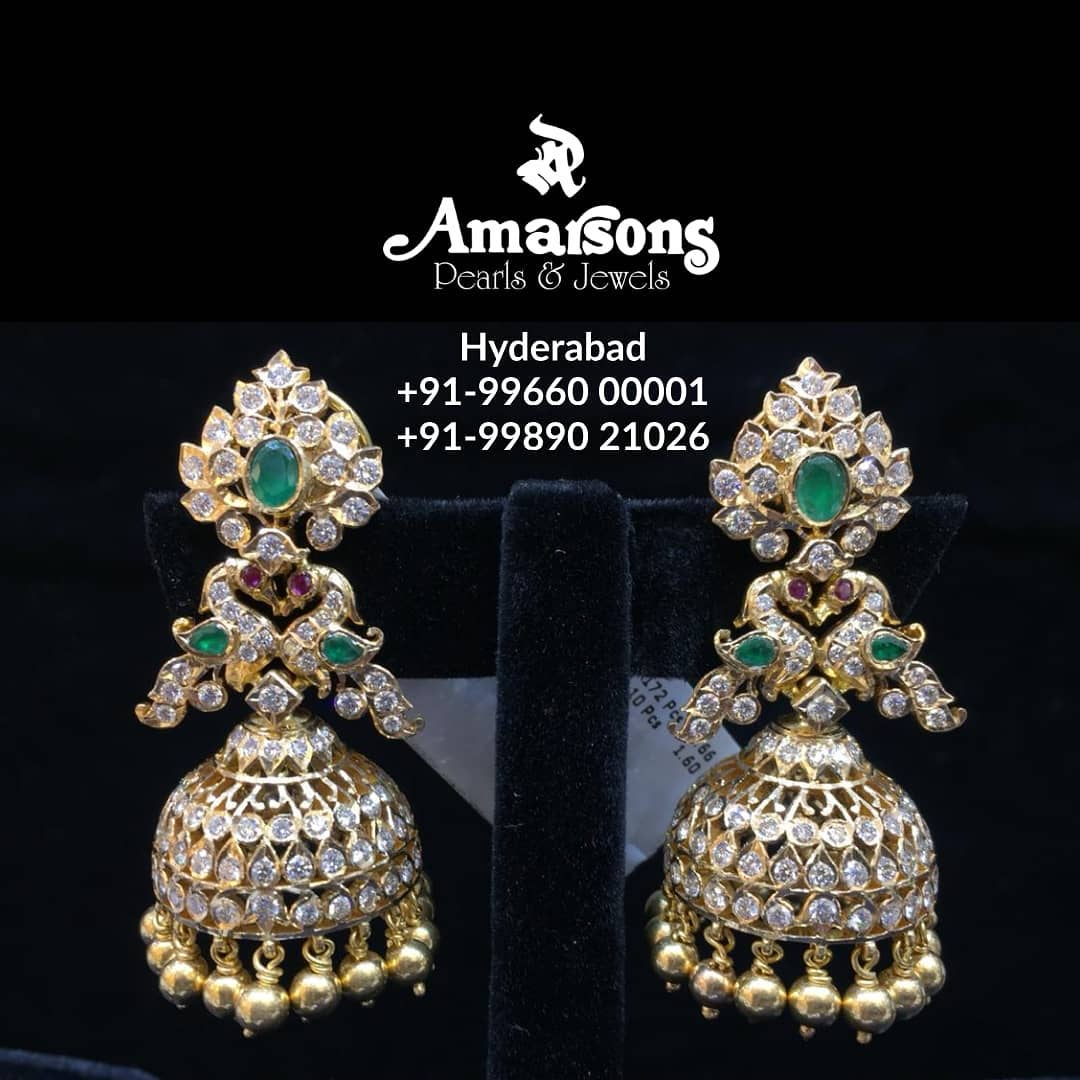 Emerald Diamond Hanging From Amarsons Jewellery