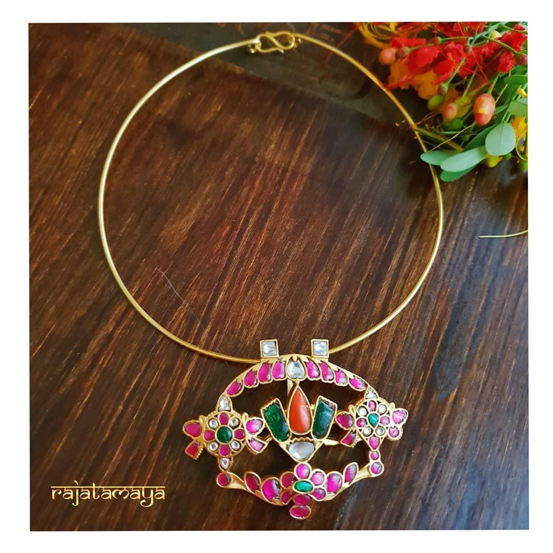 Ethnic Necklace From Rajatamaya