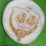 Gorgeous Uncut Multi Stone Necklace Vibha Creations