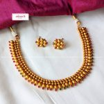 Matte Gold Spike Set From Adorna Chennai