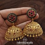 Pure SilverEarrings With 22k Gold Plating From Nakoda Payals