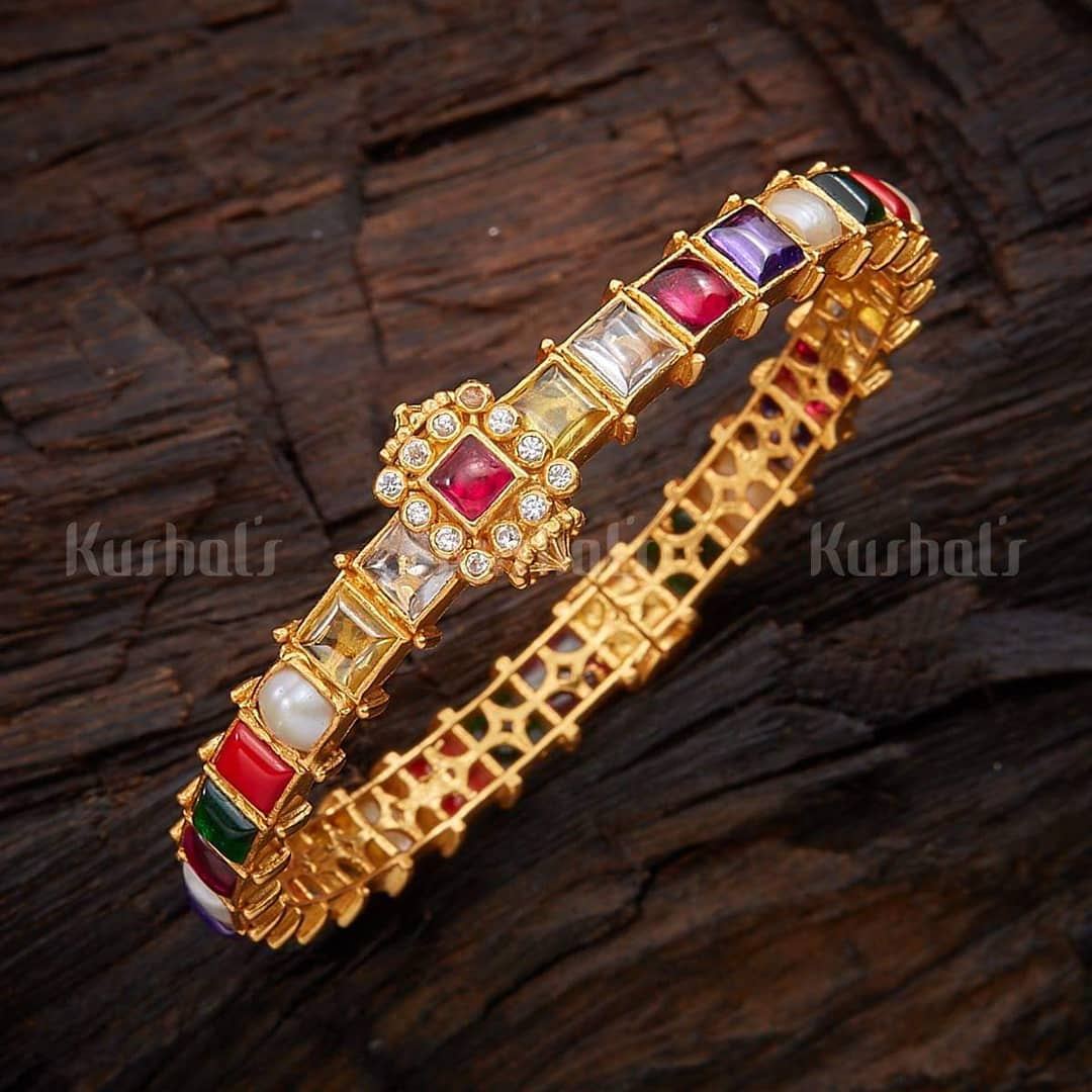 Scintillating Navratna Bangle From Kushals Fashion Jewellery