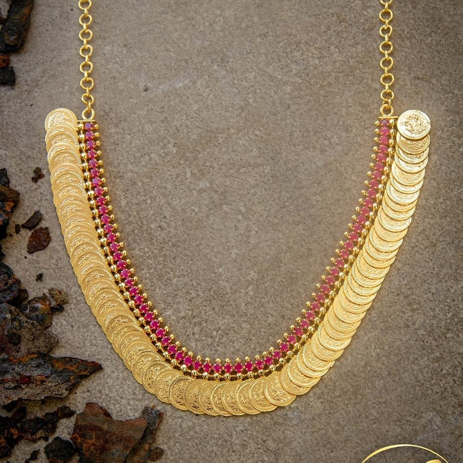 Stunning Coin Necklace From 1Gram Jewellery