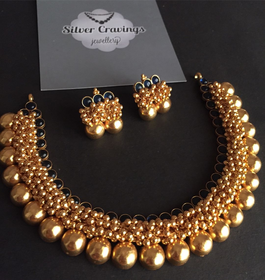 Thushi Style Necklace From Silver Cravings Jewellery