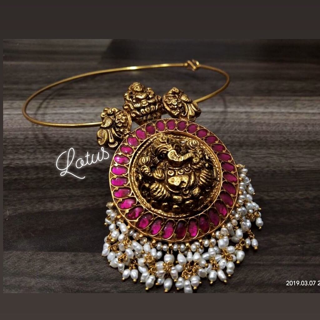 Traditional Ganesha Necklace From Lotus Silver Jewellery