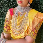 AD CZ Real Diamond Design Bridal Set From Swarna Prabhu