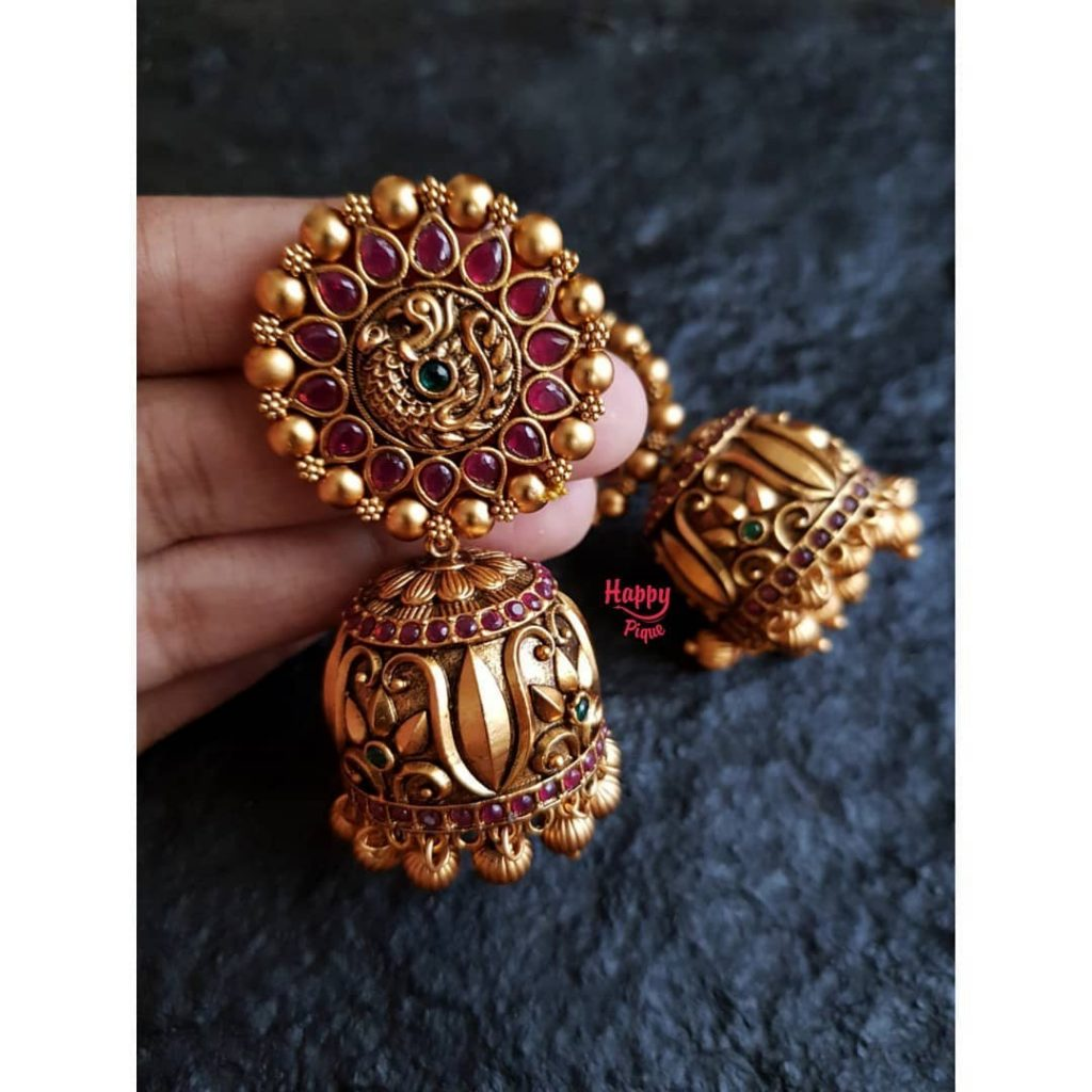 Bold Bridal Jhumka FromHAppy Pique