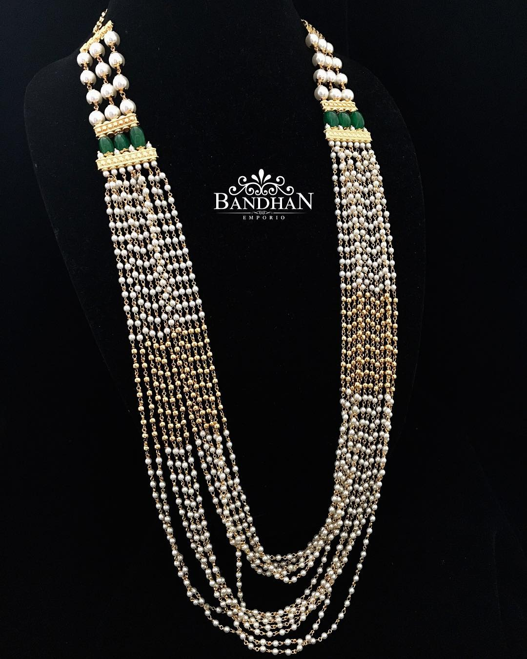 Cluster Pearl Necklace From Bandhan