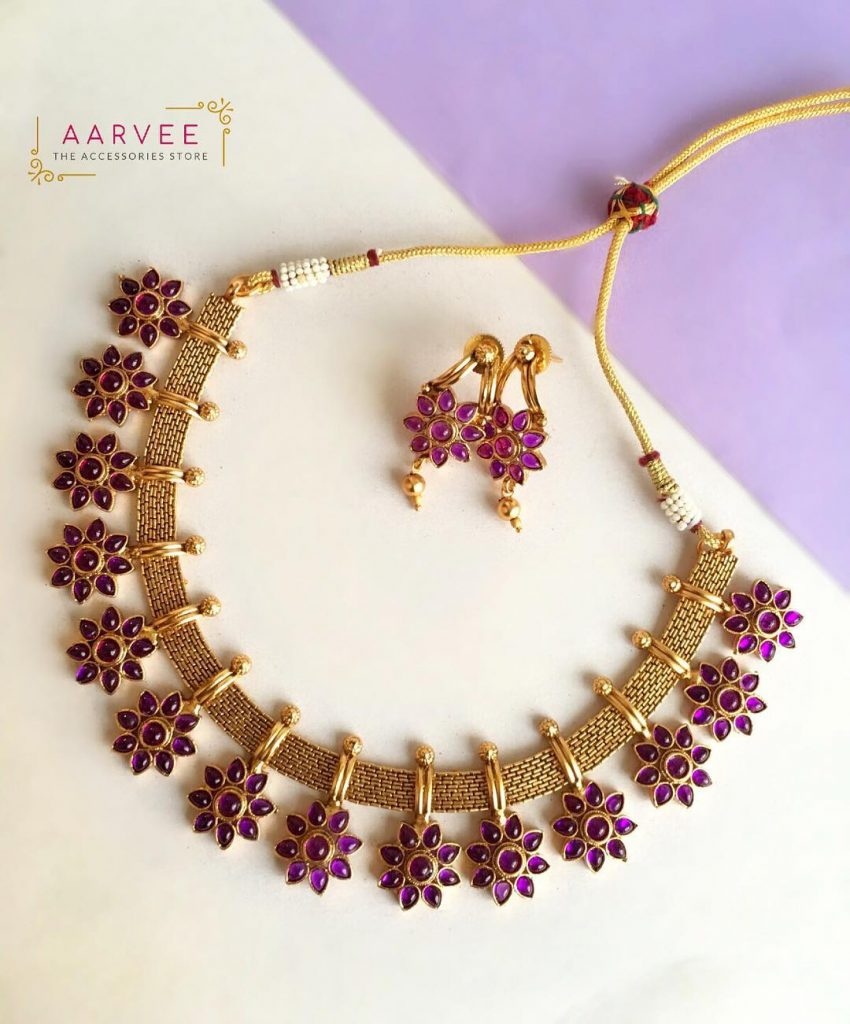 Delightful Necklace Set From Aarvee