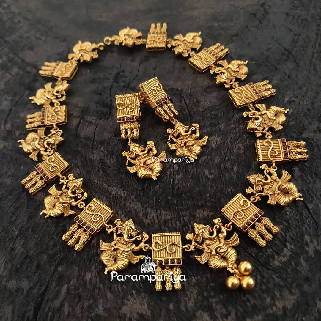 Divine Ganapathy Necklace From Parampariya
