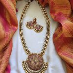 Double Pearl Line Neckpiece From Emblish Coimbatore
