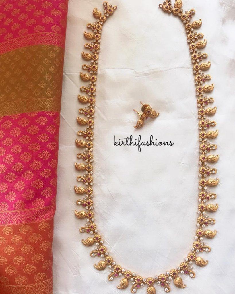 Ethnic Mango Long Haram From Kirthi Fashions