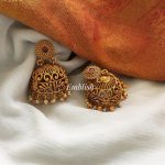 Matt Cut Work Dual Beads Jhumka From Emblish Coimbatore