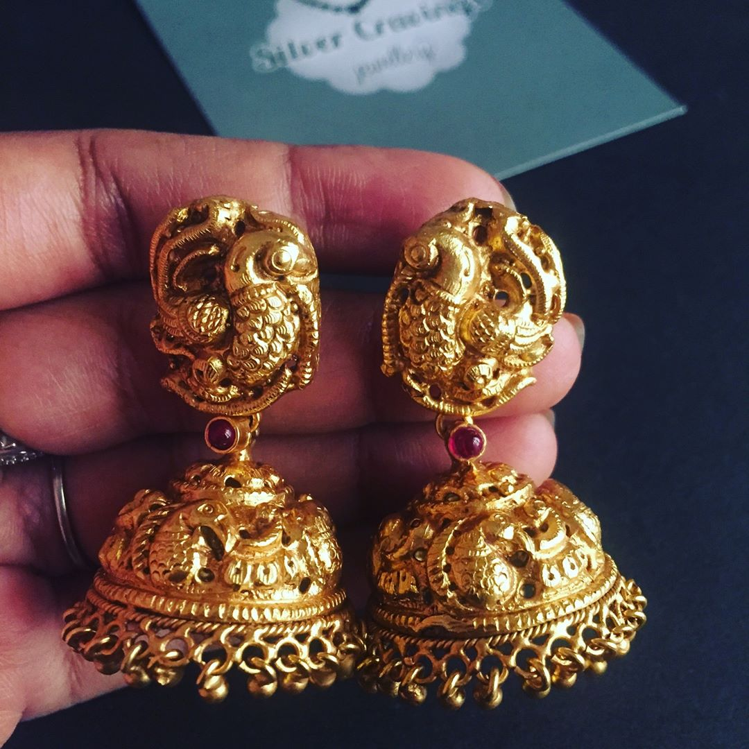 Nakshi Silver Jhumka From Silver Cravings Jewellery