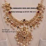 Pretty Gold Necklace From Sri Mahalakshmi Gems And Jewellery