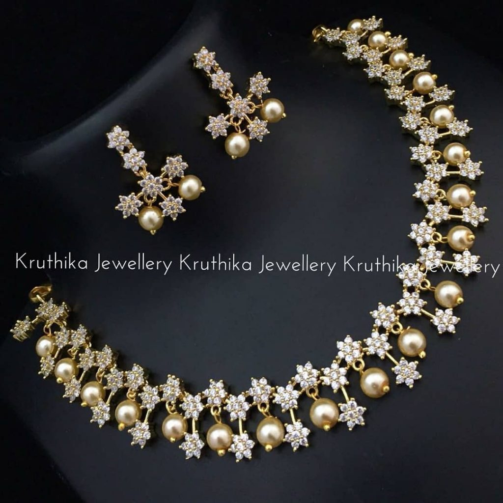 Stunning Necklace Set From Kruthika Jewellery