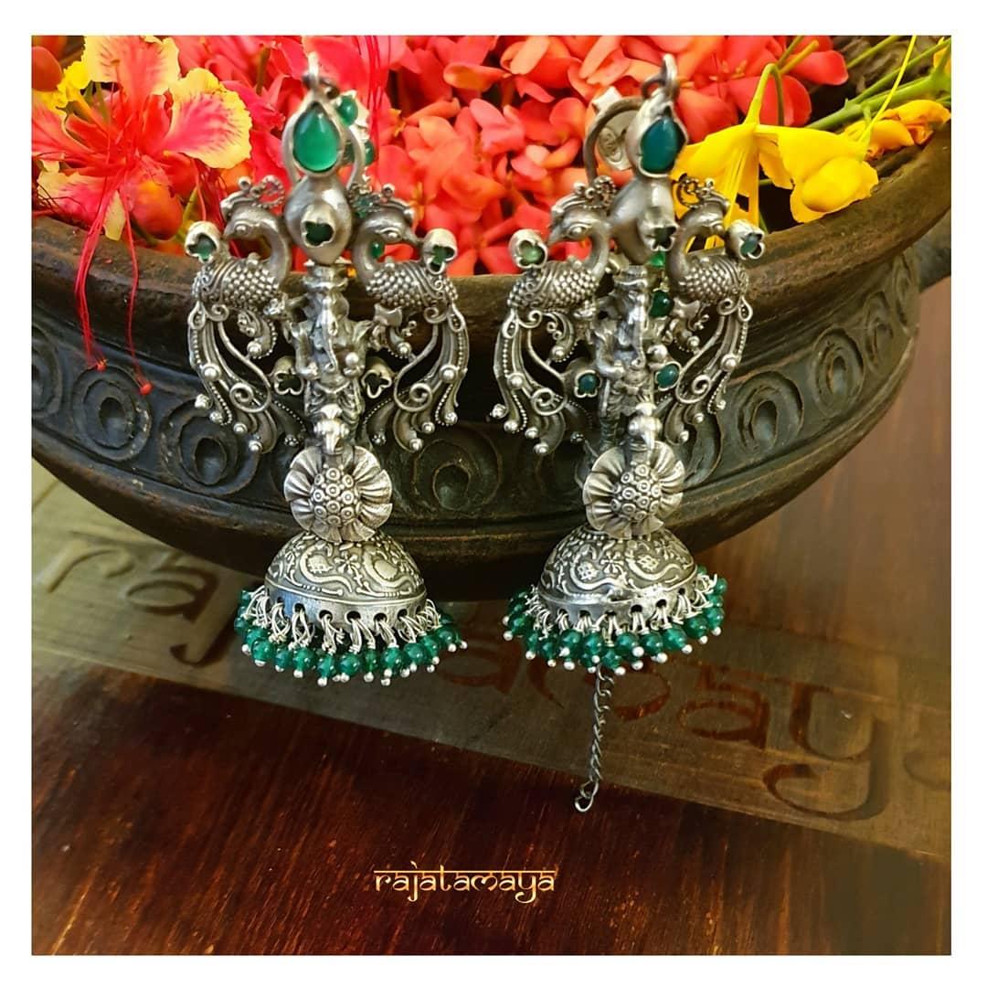 Stunning Silver Earring From Rajatamaya