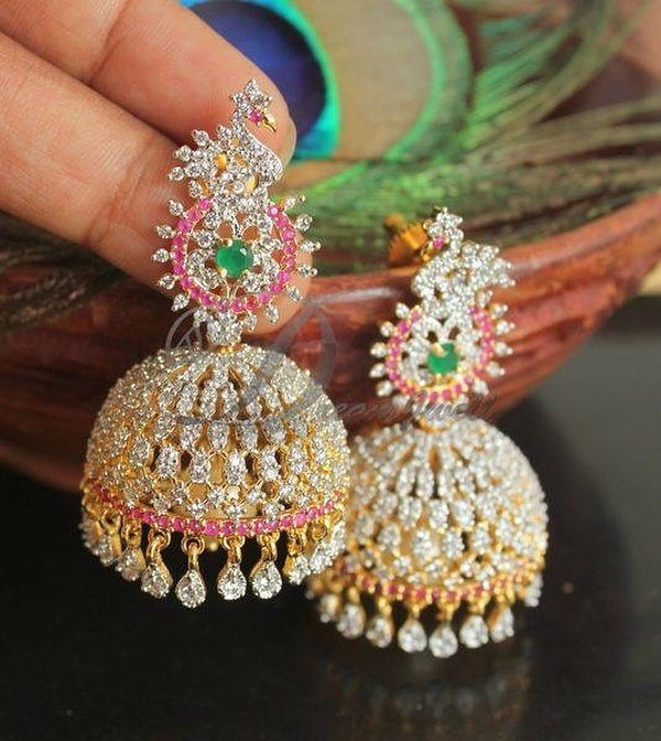 Stunning Stone Jhumka From Dreamjwell