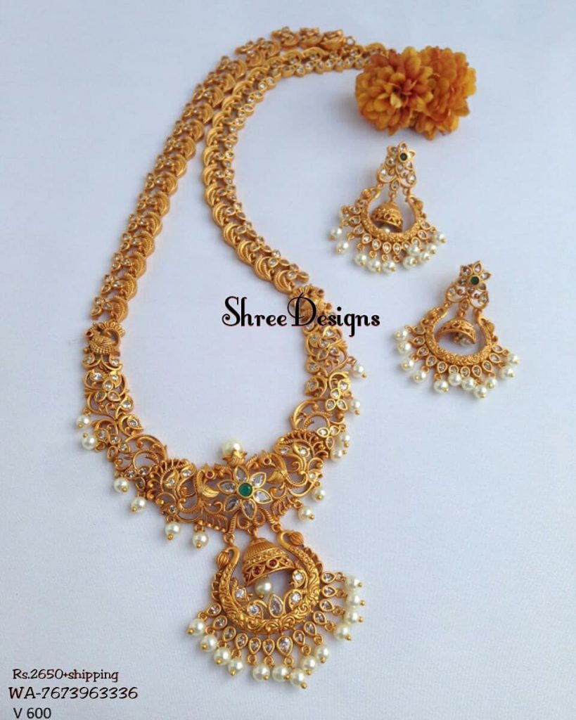 Traditional Haram From Shree Designs South India Jewels