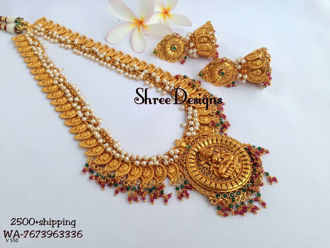 Traditional Long Haram From Shree Designs South India Jewels