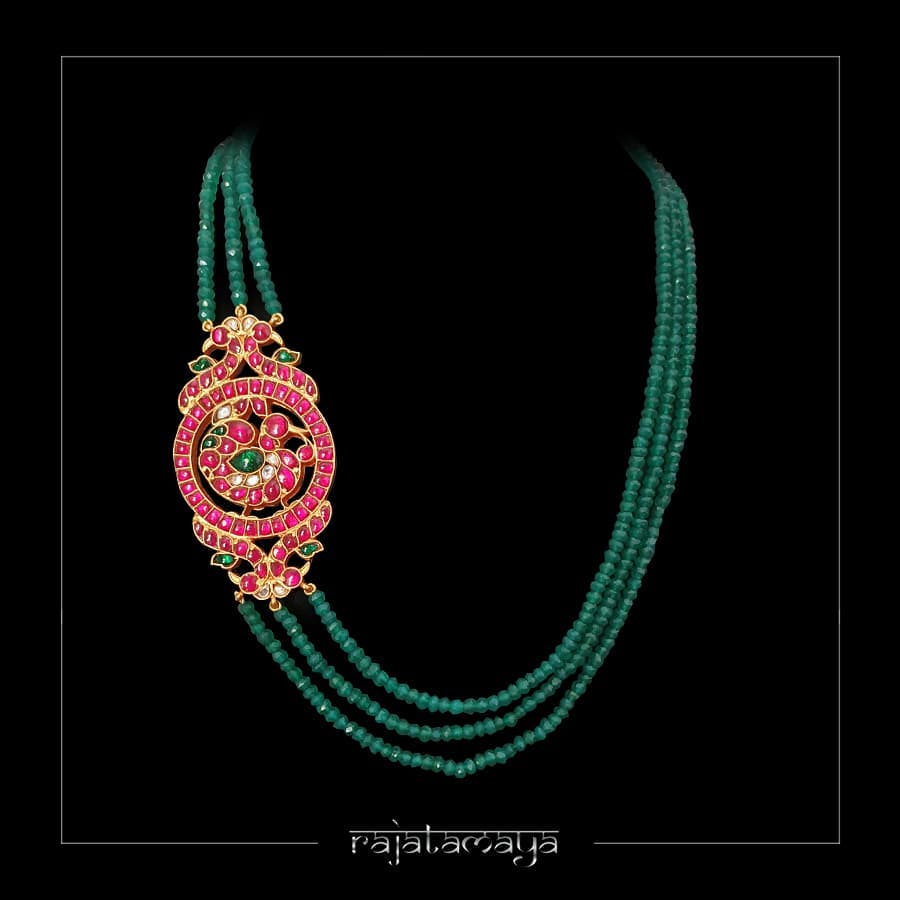 Beautiful Beaded Necklace From Rajatamaya