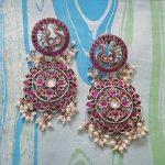 Beautiful Silver Peacock Earring From Rajatamaya