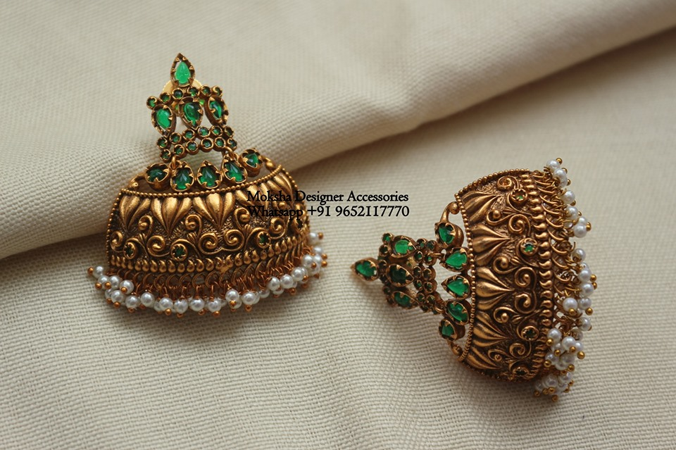 Classic Jhumkas From Moksha Designer Accessories