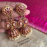 Classic Silver Jhumka From Sree Exotic Silver Jewellery