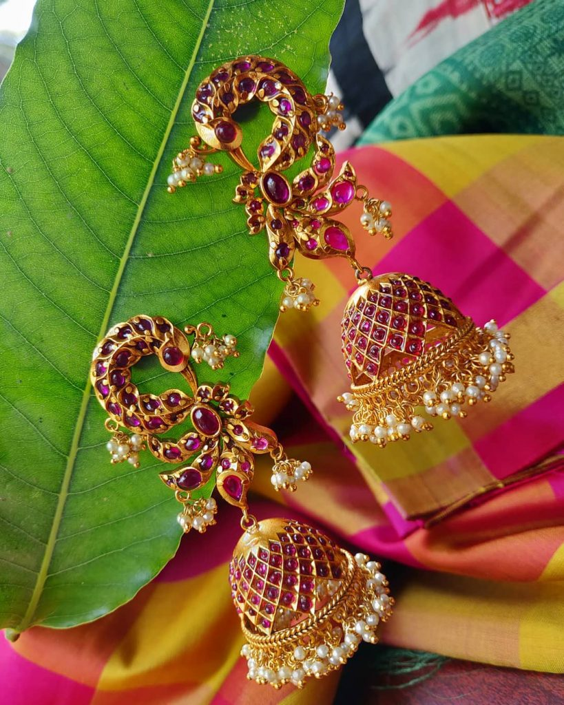 Cute Peacock Jhumka From Rimli Boutique
