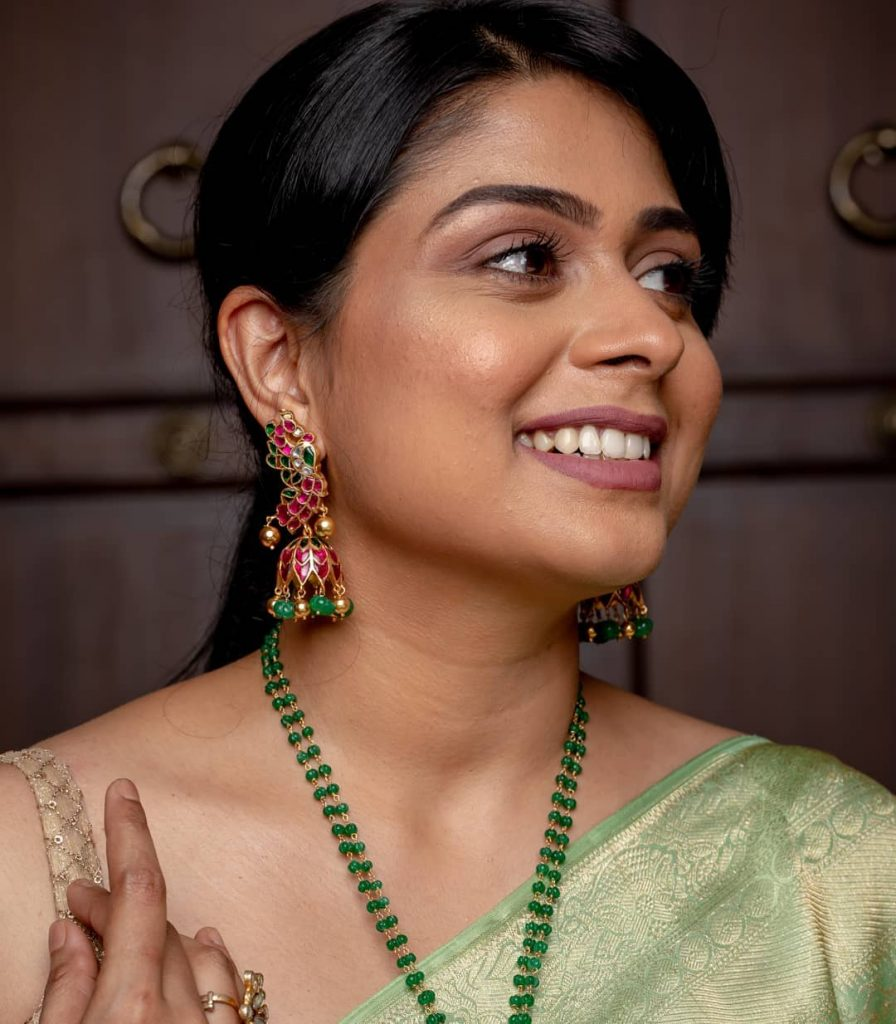 Cute Silver Kundan Jhumka From Rajatamaya