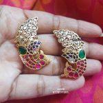Dancing Peacock Earrings From Silver Sashti