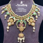 Ethnic Temple Gold Necklace From Amarsons Jewellery