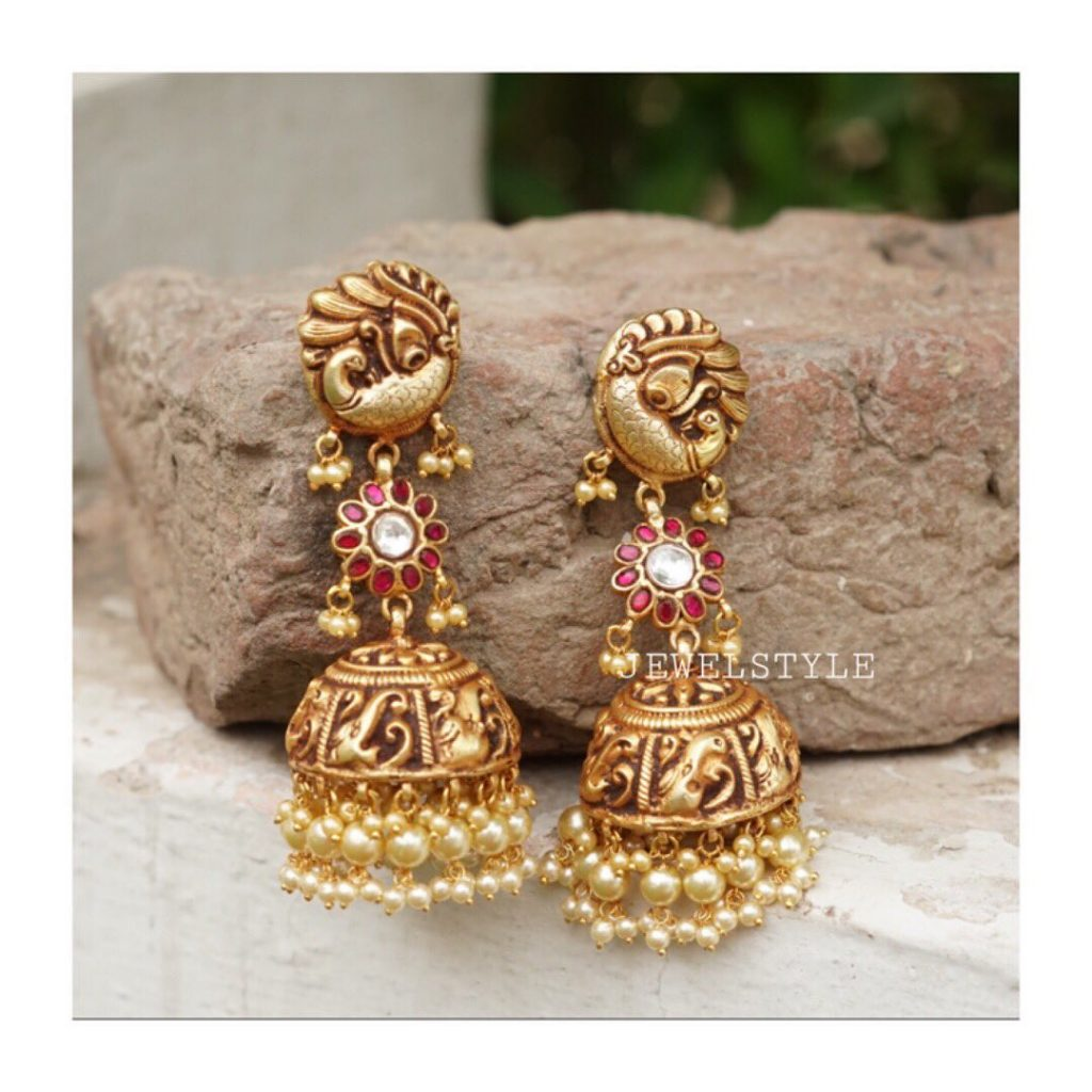 Fashionable Golden Jhumka From Jewelstyle