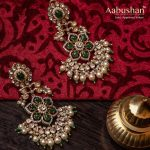 Gorgeous Gold Pearl Earrings From Aabushan Jewellery