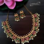 Simple Matte Finish Necklace Set From Aarvee