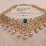 Stunning Gold Stone Necklace From Sri Mahalakshmi Gems And Jewellers
