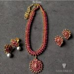 Amazing Gold Ruby Necklace Set From Arnav Jewellery