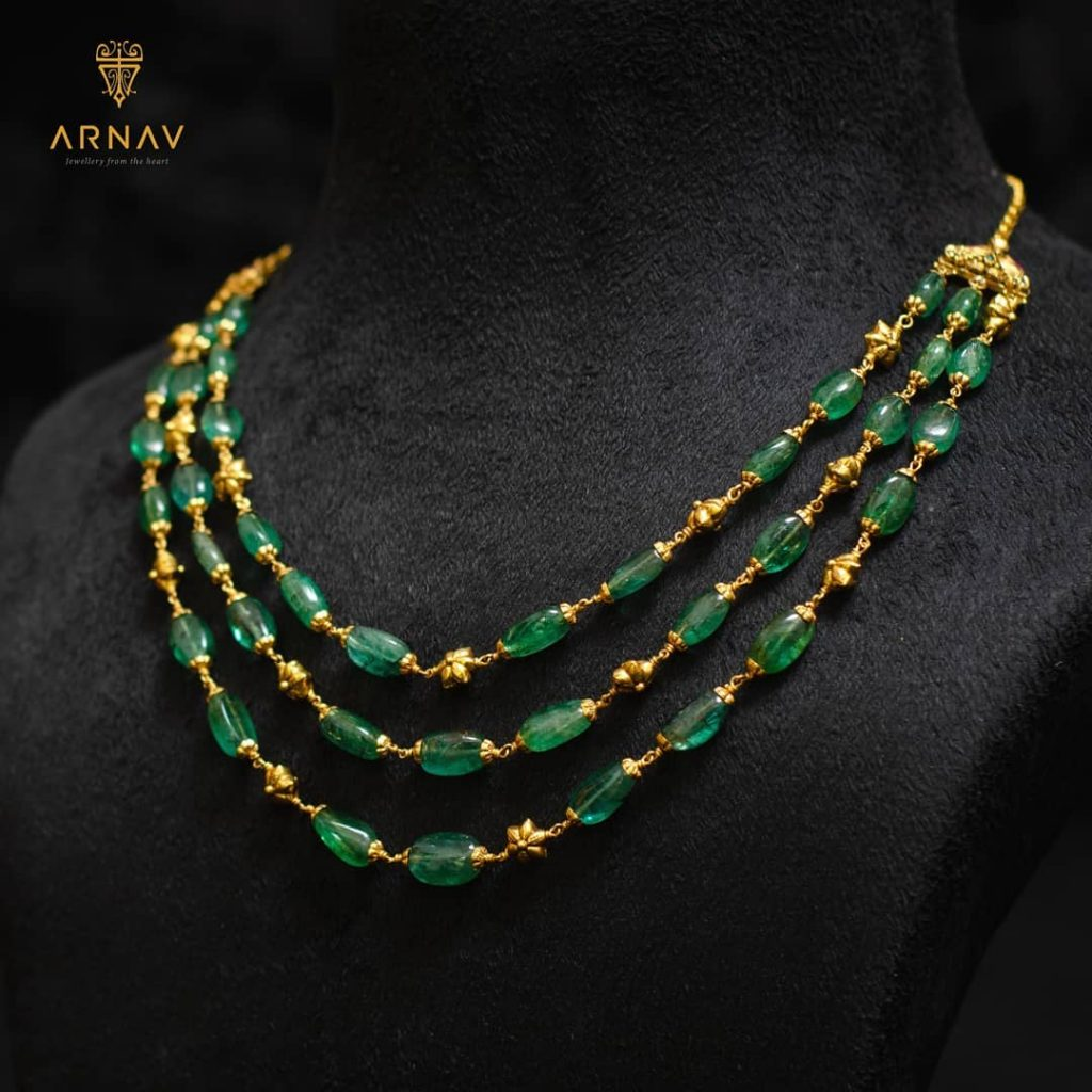 Beautiful Gold Necklace From Arnav Jewellery