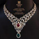Classic Diamond Necklace From Mangatrai Neeraj