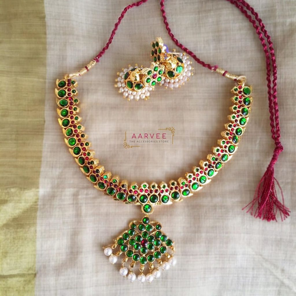 Cute Kemp Necklace Set From Aarvee