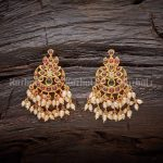 Cute Pearl Earrings From Kushals Fashion Jewellery