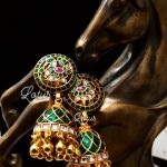 Exclusive Pure Handcrafted Peacock Kundan Jhumka From Lotus Silver Jewellery