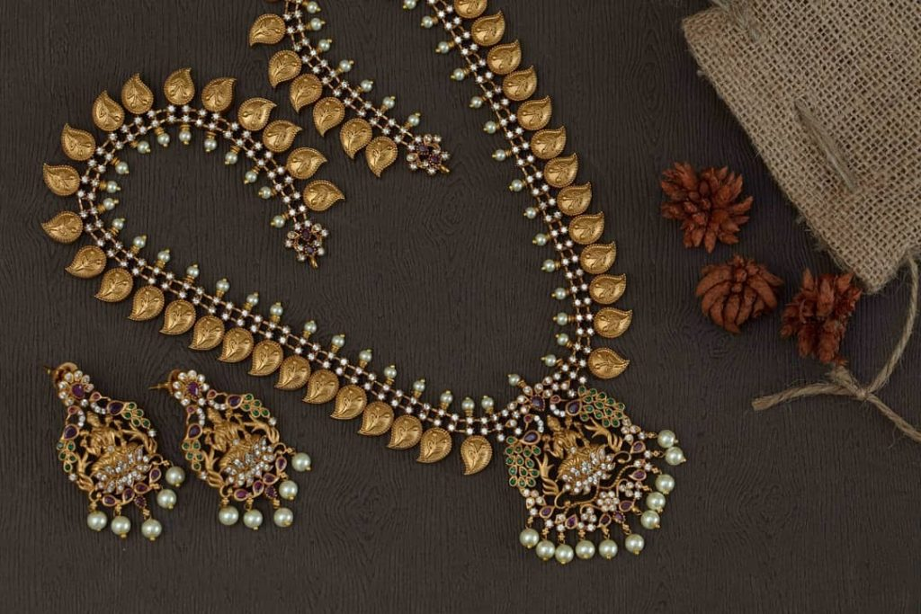 Gorgeous Temple Necklace From Madhura Boutique
