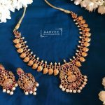 Matte Finish Lakshmi Necklace Set From Aarvee