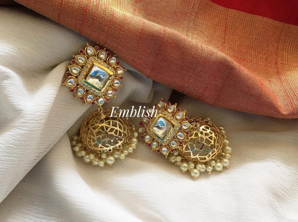 Stunning Stone Jhumkas From Emblish