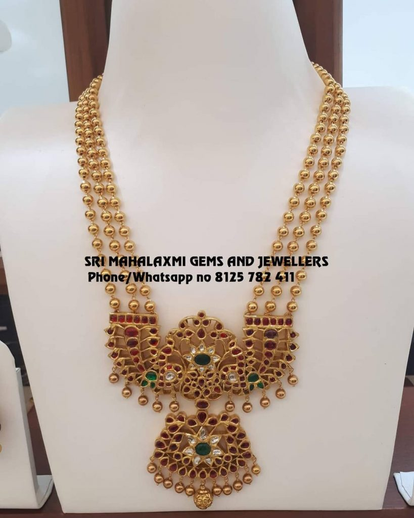 Attractive Layered Necklace From Sri Mahalakshmi Gems And Jewellers
