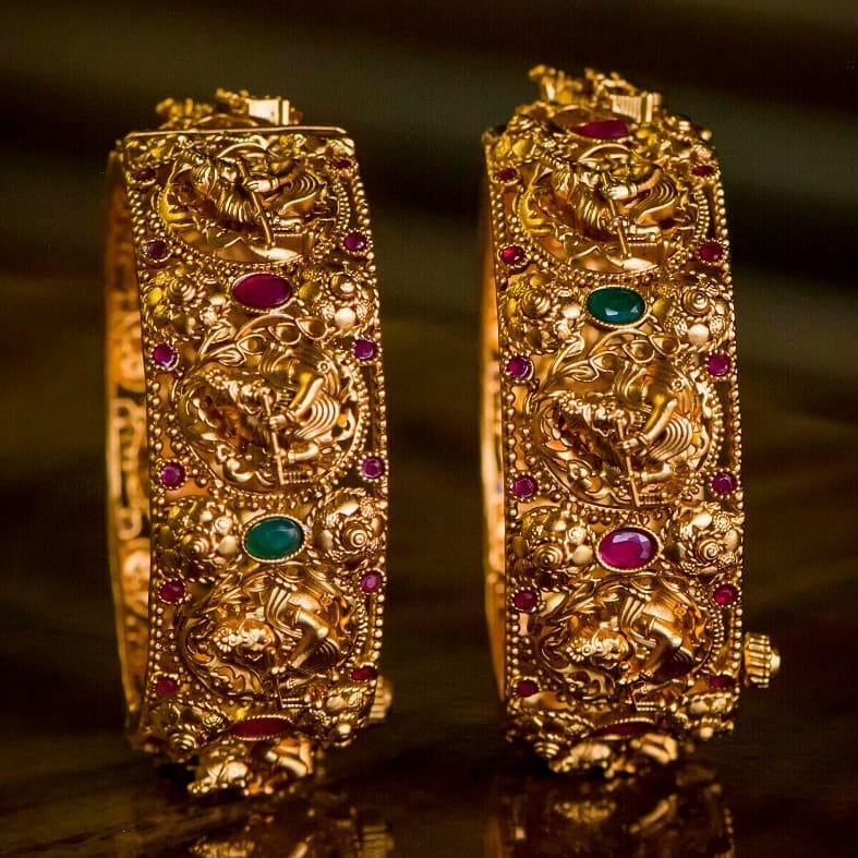 Beautiful Temple Bangles From 1 Gram Jewellery